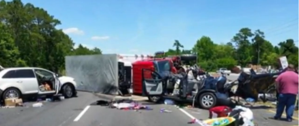 (Photo: Screengrab/ WCNC) North Carolina pastor's 2-year-old son and wife were in a car crash in Wilmington, Virginia on Saturday May 23, 2015.