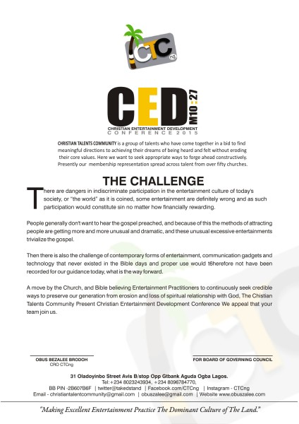 CED LETTER