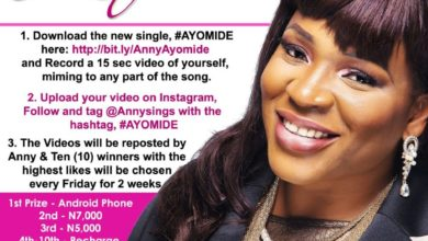 Photo of Win a new Smart Phone in Anny's #Ayomide Sing-Along Competition | @anny_sings
