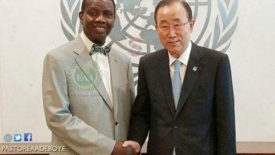 Photo of Pastor Enoch Adeboye Meets With Mr Ban Ki-Moon, Secretary General, United Nations