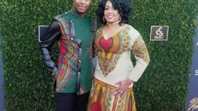 Photo of #GMPFashionTrends :: Micah Stampley & Wife Reps Africa at the 32nd Stellar Awards Red Carpet