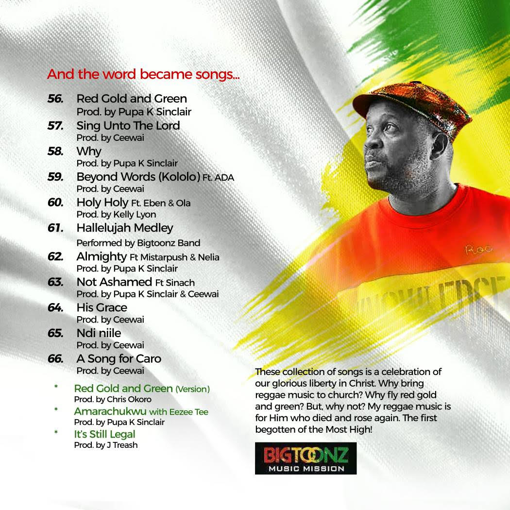RED GOLD GREEN tracklist