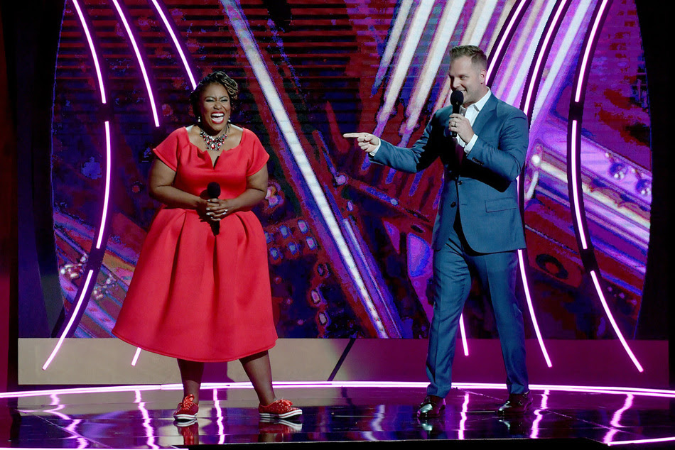 Co-hosts and nominees Mandisa & Matthew West.