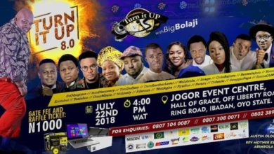 Photo of Turn It Up With Big Bolaji – The 8th Edition | July 22nd