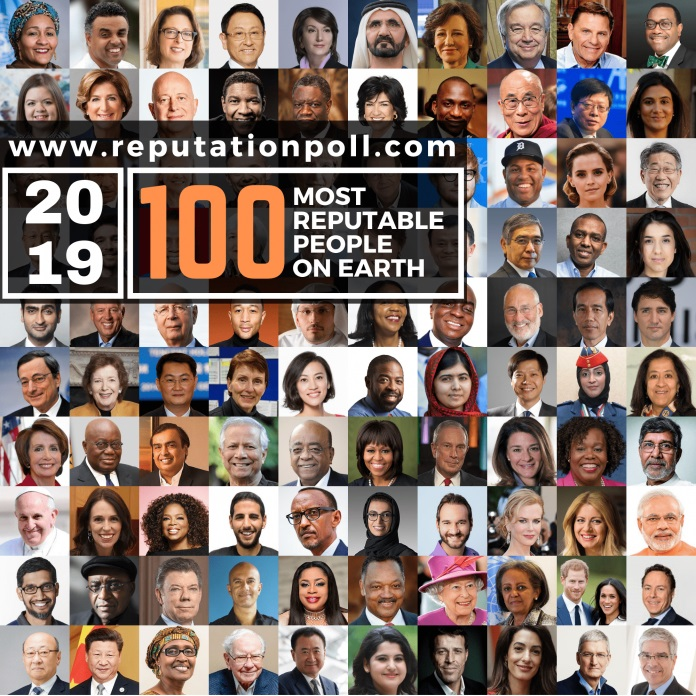 100 most reputable on Earth
